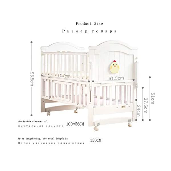 Baby Travel Bed Newborn Toddler Baby Crib Breathable Mesh Baby Anti-Collision Bed Bumper Protector Detachable Crib Liner Folding Baby Crib DUOER home It can bring sufficient security to baby and let baby enjoy the comfortable sleeping,You don't have to worry about the quality of your baby sleeping any more. ★ New upgraded multi-functional European crib, imported New Zealand pine, environmentally friendly water-based paint. ★Safe and environmentally friendly water-based paint, environmentally friendly, non-toxic, formaldehyde-free, and odor-free, so that every bit of your baby breathes healthy. 2