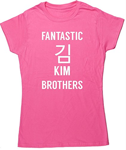 hippowarehouse-fantastic-kim-brothers-womens-fitted-short-sleeve-t-shirt