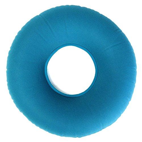 Aufblasbarer Ring Kissen, Vinyl Gummi-Sitzkissen rund, Medical Hämorrhoiden Kissen, Pumpe, bequem Medical Kissen dekubitusgefahr, ideal für Rollstühle blau 34* 12* 9cm (Aufblasbare, Runde Sitzkissen)