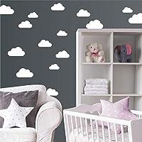 "Wandaufkleber""Set mit 20 Wolken"" Wandtattoo Wandsticker Sticker Wanddeko Kinderzimmer Himmel"