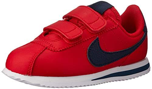 Nike Jungen Cortez Basic Sl (PSV) Leichtathletikschuhe, Mehrfarbig (University Red/Obsidian/White 600), 34 EU - Nike Rot Sneakers Jungen