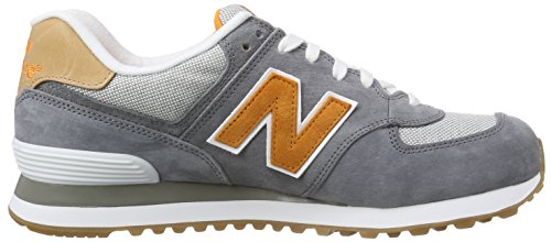 New Balance Herren ML574 Sneakers Blau (Blue/Orange)