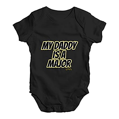 Twisted Envy Baby Unisex My Daddy Is A Major Cute Infant Bodysuit Baby Grow Baby Romper 6 - 12 Months
