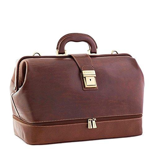 Le sac de Chiarugi italienne médecin en cuir (brun)