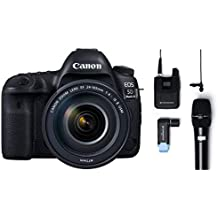 Canon EOS 5D Mark IV 30.4 MP Digital SLR Camera (Black) + EF 24-105mm is II USM Lens Kit + Sennheiser AVX-Combo SET-4-US Digital Wireless Microphone System