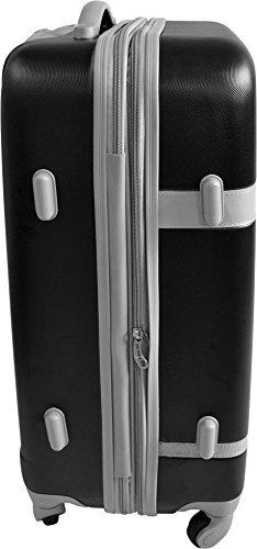 Leichtes ABS Hartschalen Kofferset Marke normani® in verschiedenen Farben wählbar! RIBBON/SCHWARZ