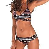 Bañadores Deportivas Mujer,JiaMeng Bikini brasileño Conjunto de Trajes de baño Chaleco de Tirantes Tops Traje de baño Traje de baño de Playa Bikiní de Las Mujeres Verano Dos Piezas
