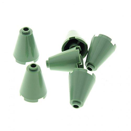 l Stein sand grün 2 x 2 x 2 (oben komplett offen) Zylinder Trichter rund für Set Harry Potter 4730 4709 4757 4842 5378 3450 3942c ()