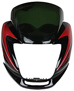 Zadon Front Fairing (Visor) for Hero Passion Pro (Black and Red)
