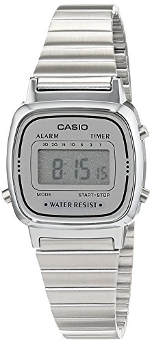 Casio Collection LA670WEA-7EF Orologio Digitale da Polso, Unisex, Resina, Argento
