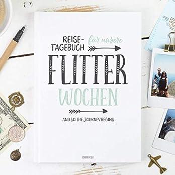 Reisetagebuch für die Flitterwochen, 108 Seiten, Hochzeitsgeschenk für Braut und Bräutigam, günstig, Reise, Tagebuch