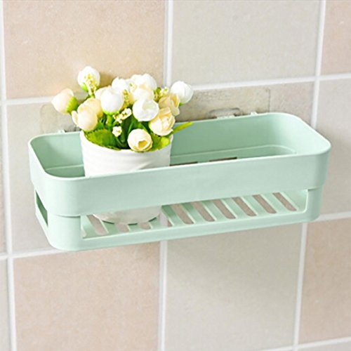 mamum Aufkleber WC Badezimmer Washroom WC-Papier Rolle Tissue Rack Halter zur Wandmontage Ablage,, grün, Einheitsgröße (Schrank-schiebe-korb)