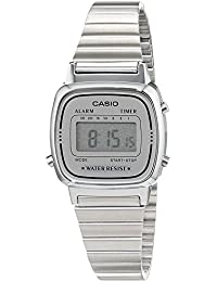 Casio Collection – Damen-Armbanduhr mit Digital-Display und Edelstahlarmband – LA670WEA-7EF