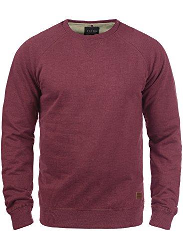 Neck Fleece Pullover (BLEND Alex 20701680ME Sweatshirt, Größe:XL;Farbe:Zinfandel (73006))