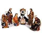 Joy Christmas Natività per Presepe Statuine in Resina 40 cm 9 Pezzi 42444