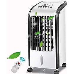 DLLzq Climatiseur Portable Télécommande Intelligente à 3 Vitesses Ventilateur De Dortoir Humidifié Accueil Mobile Petit Climatisé Ventilateur De Refroidissement à Air 5L,B