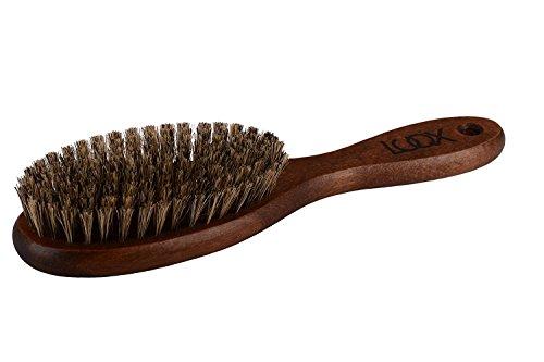 LUQX Haarbürste Spezial mit super soften Wildschweinborsten - Auskämmbürste für extrem dünnes,...