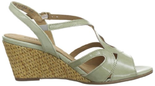 Gabor Shoes 6551090, Sandali con la zeppa donna Verde (Grün (eucalyptus))
