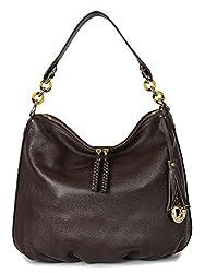 Da Milano LB-4091 Brown Leather Handheld Bag