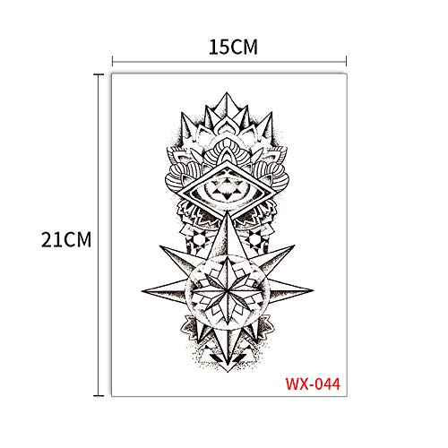 3Pcs-Mechanical Arm Tattoo Applique Spitze Adler Sun Wukong Artisan Tattoo Großbild Tattoo Aufkleber WX041-0803Pcs-4 - Metal Dark Dragon