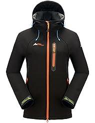 Mount Conquer Femme Imperméable Coupe-vent Doublé polaire Veste Softshell Outdoor Sport Veste de Camping Randonnée Manteau