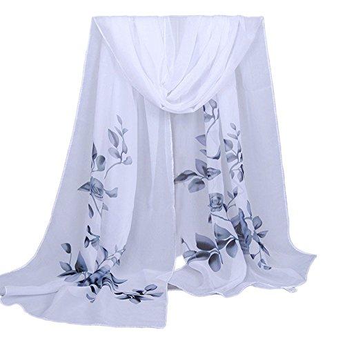 OverDose Elegant Mode Frauen Lange weiche Wrap Schal Damen Schal Chiffon Schals Halstuch Tücher - Taschen Wollschal Mit