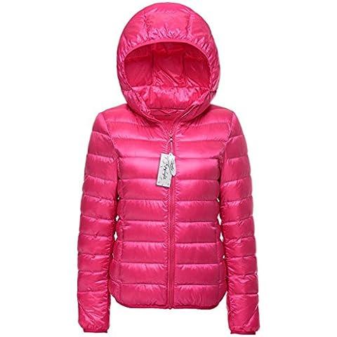 Topgraph Para Mujer Chaqueta Portátil de con capucha Extremadamente Ligera Woman Down Jacket