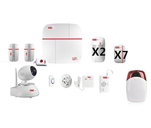 ABTO Allarme WIRELESS VCARE per la sicurezza domestica. 7 contatti