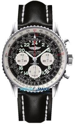breitling-navitimer-cosmonaute-orologio-uomo-quadrante-nero-cassa-acciaio-cinturino-pelle-nera