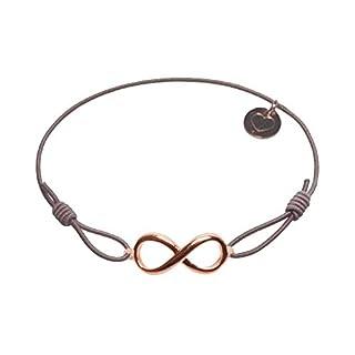lua accessories - Armband Damen - Elastikband - größenverstellbar - hochwertig vergoldetes Unendlichkeitssymbol - Endless rose (taupe)