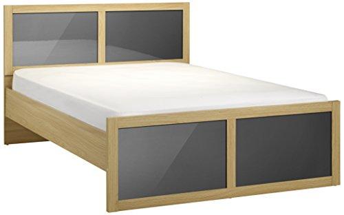 Julian Bowen Strada King Size Bed, Light Oak/Grey