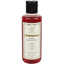Khadi Herbal Sandal And Honey Face Wash, 210ml