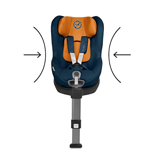 CYBEX Gold Sirona S i-Size Car Seat with 360° Swivel Mechanism and ISOFIX, From Birth to approx. 4 Years, Up to Max. 105 cm Height, Manhattan Grey