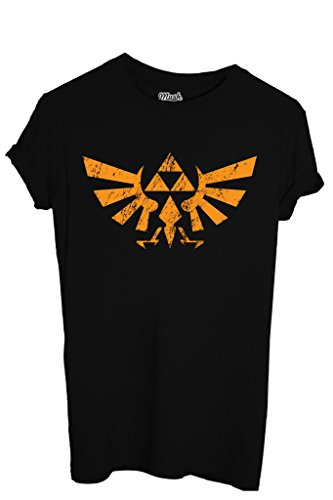 T-Shirt THE LEGEND OF ZELDA LOGO DESTROY - GAMES by MUSH Dress Your Style - Donna-XL-NERA