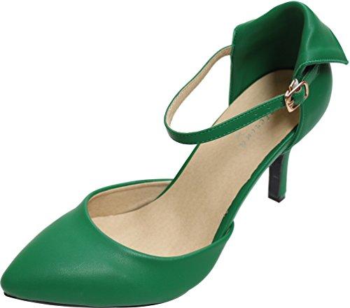 Tiras Tornozelo Pcp Verde Escuro Senhoras wpCq7g