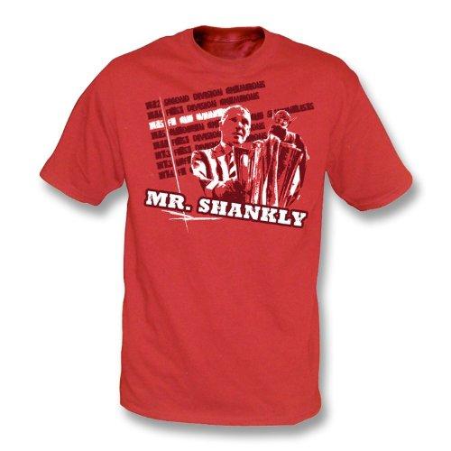 PunkFootball T-Shirt Herrn Shankly Xx-Groß, Farbe- Rot (Herrn T-shirt Erwachsene)