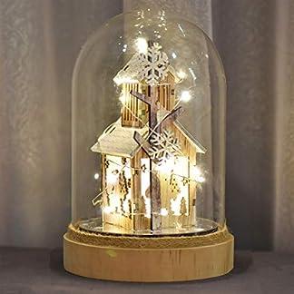 Valery Madelyn Adornos de Navidad para Ilumina Belén, 8.7in/20cm Decoraciones Luz de Navidad para Mesa con Pueblo de Invierno Congelado, Escena Navideña (Bosque)