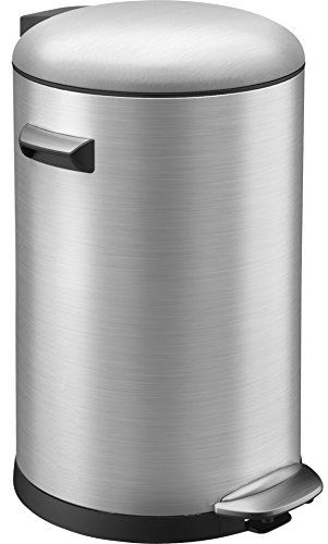 EKO Belle Deluxe Poubelle à Pédale Métal Inox 36,4 x 33 x 48,4 cm 20 litres