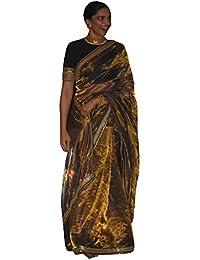 Swara Fashion Women's Tissue Silk Multi Work Saree(SFPBT-161_Beige)