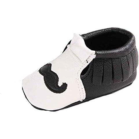 Malloom Bebé recién nacido suave zapatos con suela blanda antideslizante zapatos calzado bigote