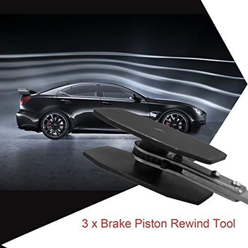 Étrier de frein Outil de rembobinage de piston Double face, plaque d'adaptation réversible Cylindre de roue de voiture, disque de plaquette de frein