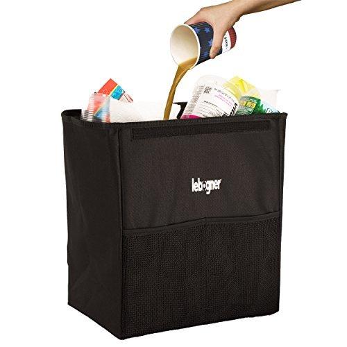 Preisvergleich Produktbild Auto Garbage können mit Bezug von lebogner-Luxus 100% auslaufsicher X-Large Auto Mülleimer, Mülleimer, stabile Auto Trash Container, perfekt, zu Halt auf Auto Sitz Kopfstütze oder Auto Boden, Katzenstreu Organizer