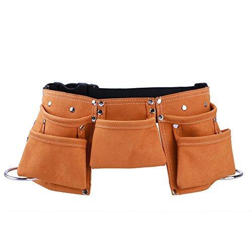 TOOLTOO Kinder Werkzeuggürtel Leder Kind Werkzeugtasche Leder Werkzeugtasche, Geeignet für 3-12 Jahre altes Kind