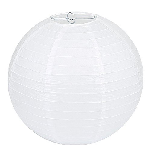 Weiße Papierlampions | 10 Stk in verschiedenen Größen