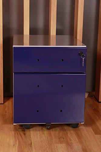 Kasper-Wohndesign 23558 Rollcontainer, Metall, blau, 53 x 42 x 59 cm