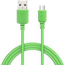 EZOPower EZCB15G - Cable USB 2.0 de carga y datos, 1.8m, color verde