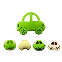 Ascension DIY Cute Green Car Sandwich Moulid Maker Rice Cake Mould Cutter Cookie Pastry Device Mold Kitchen Tool
