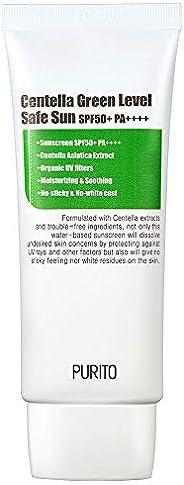 PURITO Centella Green Level Safe Sun SPF50+ PA++++,Broad Spectrum UVA1,2,UVB/oil-free suncream/non-nano system