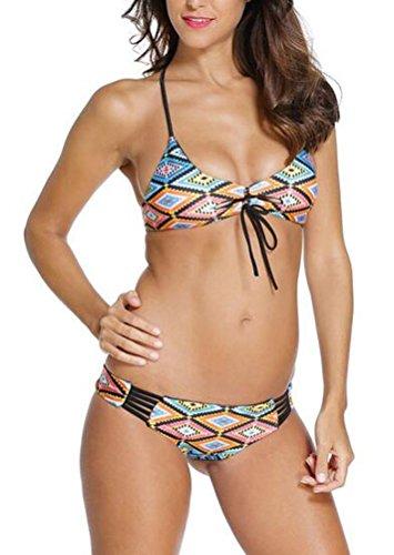 sunifsnow-bikini-madchen-bikini-gepunktet-grun-grun