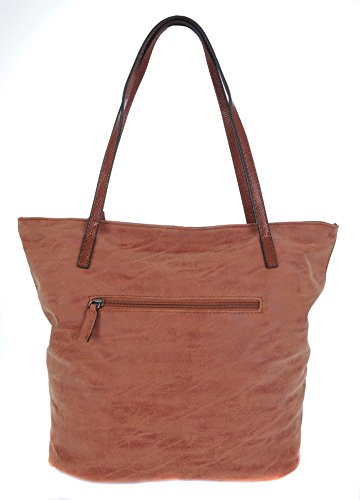 David Jones, Borsa tote donna Brick Red / Tan large Brick Red / Tan